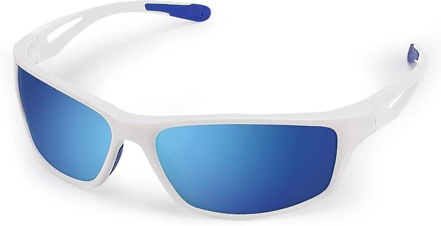 Gafas de Sol Deportivas, CHEREEKI Gafas de Sol Deportivas Polarizadas con Proteccion UV400 & marco TR90 Irrompible. Para Hombre y Mujer, Deportes al ...