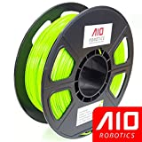 AIO Robotics AIOBRIGHTGREEN PLA 3D Printer Filament, 0.5 kg Spool, Dimensional Accuracy +/- 0.02 mm, 1.75 mm, Bright Green
