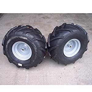"(USA Warehouse) 20x10.00-8 TIREs RIMs WHEELs ASSEMBLY Garden Tractor Riding Mower Sil 3/4"" Shaft -/PT# HF983-1754415806"