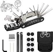Corooci Bike Tool Kit, 16 in 1 Multifunctional Bicycle Bike Repair Tool Kit Accessories for Men, Puncture Repa