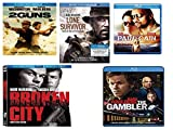 MARK WAHLBERG COMPLETE SET/BOXSET THE GAMBLER/BROKEN CITY/PAIN AND GAIN/LONE SURVIVOR/2GUNS BLU RAY AND DVD DENZEL WASHINGTON/DWAYNE JOHNSON/RUSSEL CROWE/