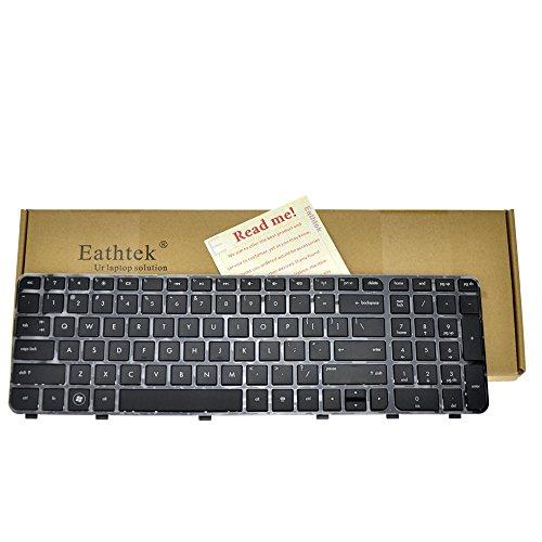 Eathtek Replacement Keyboard with Frame for HP Pavilion DV6-7000, DV6-7100, DV6-7200, DV6t-7000, DV6z-7000 Series Black US Layout 697454-001, 670321-001, 682081-001, NSK-CKAUW