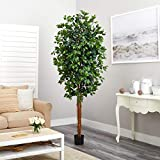 Nearly Natural Artificial Trees, 84in, Green