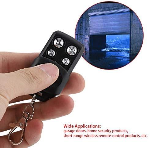 Fdit 433 Mhz Fernbedienung Mit 4 Tasten Für Garage Deckenventilator Sicherheits Duplikator Für Zuhause Universal Türalarm Schwarz Socialme Eu Küche Haushalt
