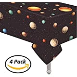"Oojami 4 Pack Plastic Outer Space Table Cover 54""x108"""
