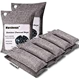 Marsheepy 12 Pack Bamboo Charcoal Air Purifying Bags, Activated Charcoal Odor Absorber, Shoe Deodorizer Bags, Odor Eliminator for Home, Pets, Car, Closet (200g X 2 and 75g x 10)