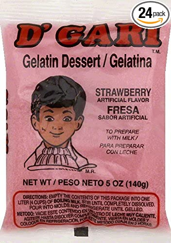 DGari Gelatin Dessert, Strawberry, 5 Ounce (pack of ...