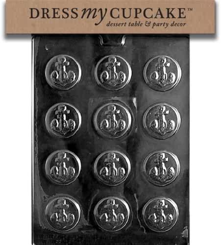 Dress My Cupcake Chocolate Candy Mold, Anchor Mints, Nautical