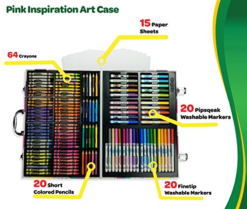 Crayola Inspiration Art Case in Pink, 140 Art & Coloring Supplies, Gift for Girls by Crayola (Image #1)