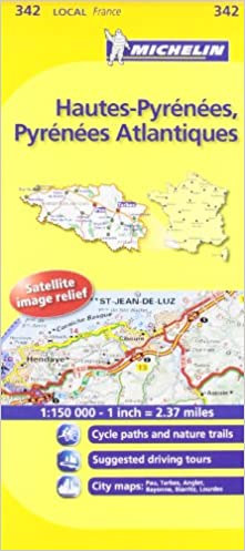 Map Of France Detailed.Michelin Map France Hautes Pyrnes Pyrnes Atlantiques 342 Maps