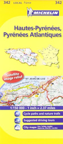 Michelin Map France: Hautes-Pyrnes, Pyrnes Atlantiques MH342 (Maps/Local (Michelin)) (English and French Edition)