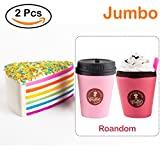 WATINC Jumbo Squishies coffee cup&pink ice cream Slow Rising Squishies Sweet Scented Kid Toy Hand ,Stress Relief Toy Lovely Toy Large(cup&pink ice cream)