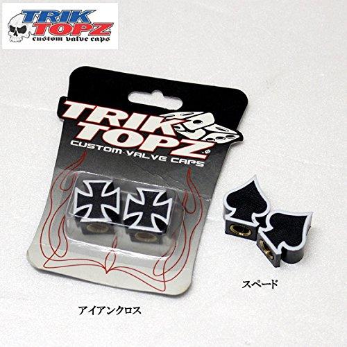 TRIK TOPZ アイアンクロス US バルブ キャップ用 2個セット【並行輸入品】