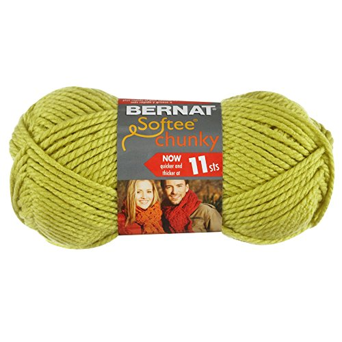 Solid Yarn Grass - Bernat Softee Chunky Yarn, Grass, Single Ball