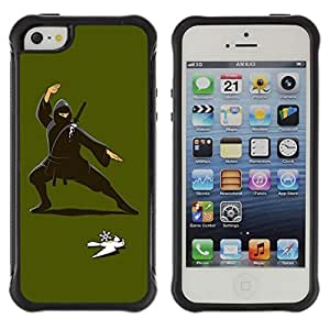 Hybrid Anti-Shock Defend Case for Apple iPhone 5 5S / Ninja