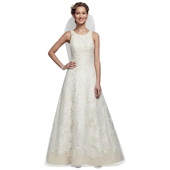b78fc3e682ba SAMPLE: Oleg Cassini Tank Tulle Wedding Dress with Lace Style AI14010447,.