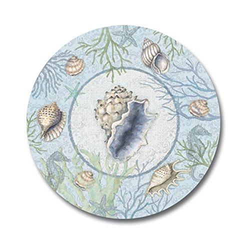 Melamine Plates Plastic Plates Set of Four Nautical Beach 9 Inch Diameter