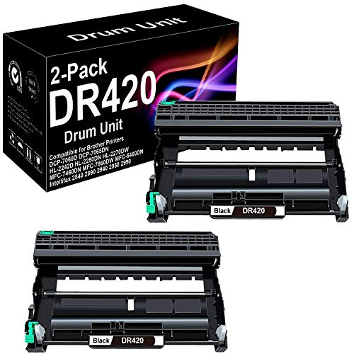 2 Pack Compatible High Yield HL-2135W Laser Printer Drum Unit Replacement for Brother DR420 Drum Unit (Black), Sold by BUADCK