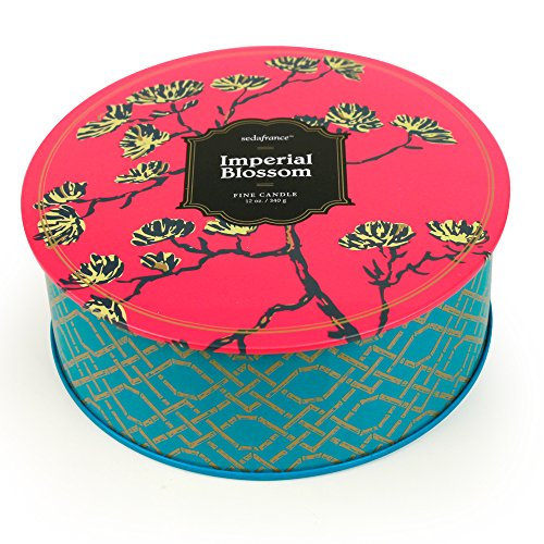 Seda France Jardins Du 3-Wick Candle Tin, Imperial Blossom, 12 Ounce