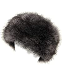 soul young Faux Fur Hat for Women,Ladies Winter Cossak Russian Style Cap(Grey)