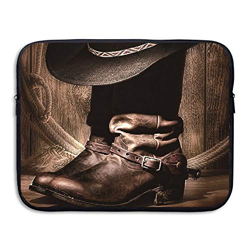 Sunmoonet Laptop Case, Boots Cowboy Thing 13 Inch 15 Inch Laptop Sleeve, Water Repellent Universal Portable Computer Liner Case Laptop Sleeves Notebook Bag Cover for Women Men ()