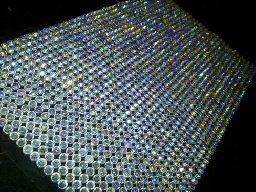 CraftbuddyUS AB Clear 5mm Bulk Sheet 1500 Self Adhesive Diamante Stick on Rhinestone -