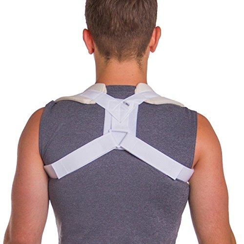 BraceAbility Figure 8 Clavicle Brace | Posture Corrector, Collarbone Sling & Shoulder Support Strap for Injuries & Fractures (Large)