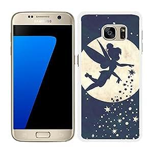 FUNDA CARCASA PARA SAMSUNG Galaxy S7 Edge CAMPANILLA 3 BORDE BLANCO