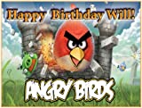 "Single Source Party Supplies - Angry Birds Cake Edible Icing Image #2 - 8.0"" x - 10.5"" Rectangular"