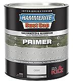 Hammerite 48300 Rust Cap Rust Preventative Paint Hammered Gray Primer 1 Qt