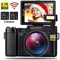 AMKOV CD-R2 Digital Camera Vlogging Camera 24MP 2.7K...