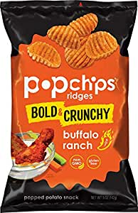 Popchips Ridges Buffalo Ranch Potato Chips 5oz Bags (Pack of 12)
