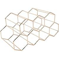 MONLEYTA Modern metallvaxkakor-vinställ vinflaskförvaring bikupa bords-vinhylla guld