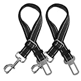 Randemfy Upgraded Adjustable Pet Dog Cat Safety Leads Car Vehicle Seat Belt Harness Seatbelt, Made from Nylon Fabric for Dogs, Cats and Pets
