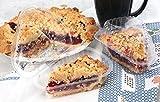 Hinged Plastic Pie, Cheesecake, Cake Slice
