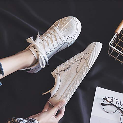 Fond Petites Coquille Nouvelle Chaussures Net Femme Étudiants Black White De Sauvage Rouge 2018 Basiques Yundongxienv Printemps Blanches Plat PxdqnOPF