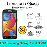 Galaxy Avant Glass Screen Protector, [2 Pack] AnoKe(0.3mm 9H 2.5D) Best Tempered Glass Screen Protector Film Shield Guard For Samsung Galaxy Avant SM-G386T Glass 2Pack