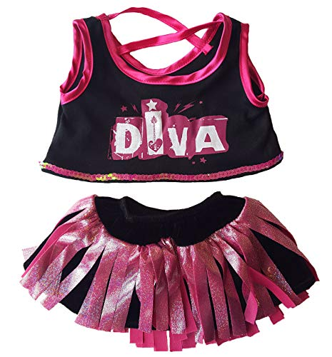 "Diva Girl Outfit Teddy Bear Clothes Fit 14"" - 18"" Build-a-bear and Make Your Own Stuffed Animals"
