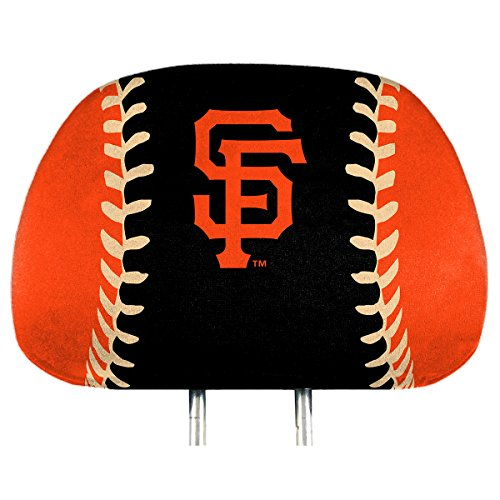 (ProMark San Francisco Giants Printed Color 2-Pack Head Rest Covers Elastic Auto Baseball)