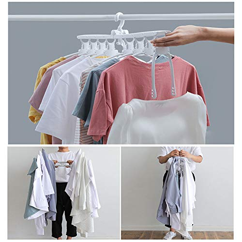 8-in-1 Hangers,Foldable Multi-Function Hanger Hanging 8 Pieces of Clothes to Save Space and Drying Clothes by DFS (Image #6)