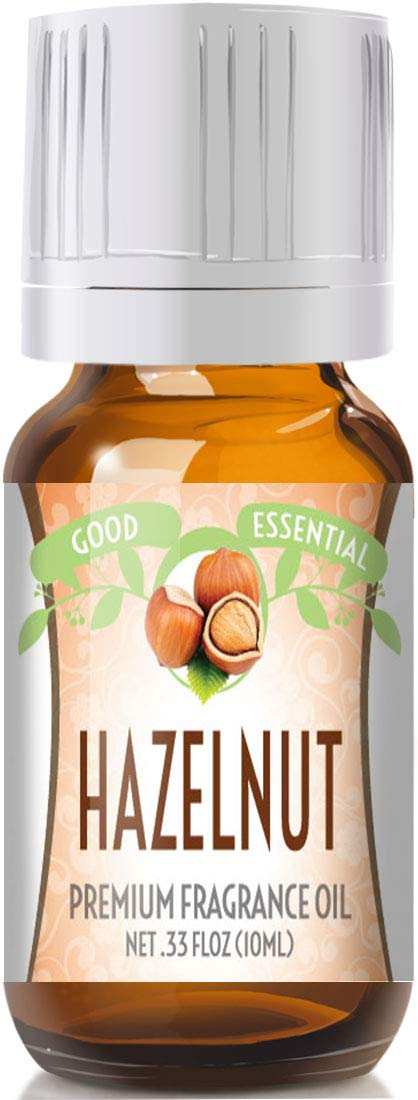 Hazelnut Scented Oil by Good Essential (Premium Grade Fragrance Oil) - Perfect for Aromatherapy, Soaps, Candles, Slime, Lotions, and More!