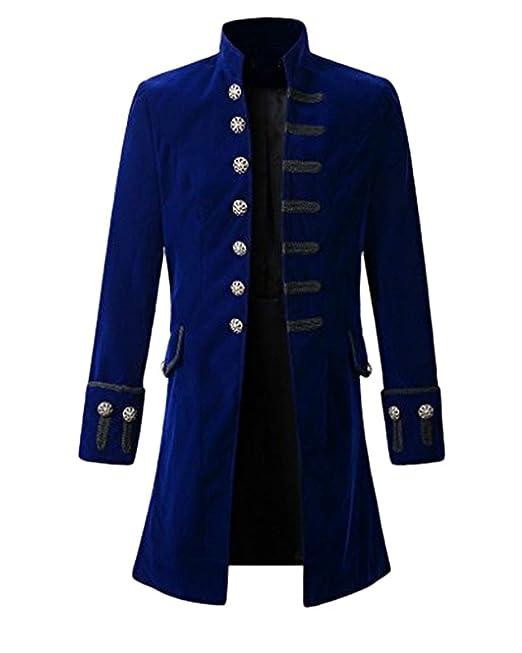 Chaqueta Gotica Steampunk Hombres Traje Vestido Victoriano ...