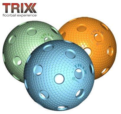 TRIX Unihockey / Floorball Ball 3er Pack MATCHBALL COLOR MIX MEGASAT s.r.o.