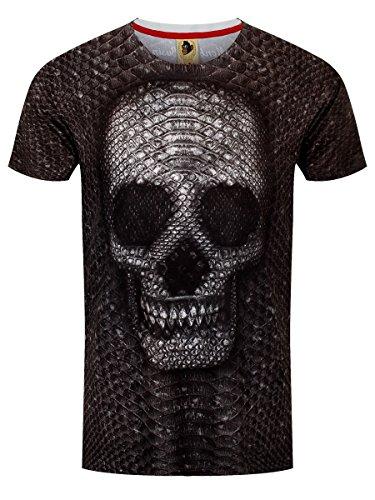 Monkey Business Herren T-Shirt Snake Skull