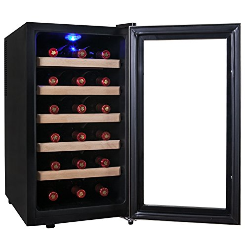 Free shipping firebird new 18 bottle thermoelectric quiet for Modern homes 8 bottle wine cooler