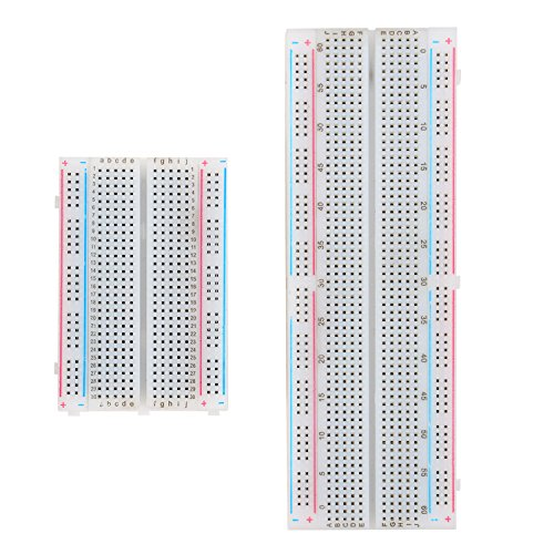 eBoot Experiment Solderless Breadboard with Adhesive Tape, 400-Points and 830-Points, 2 Pieces Proto Matrix Board