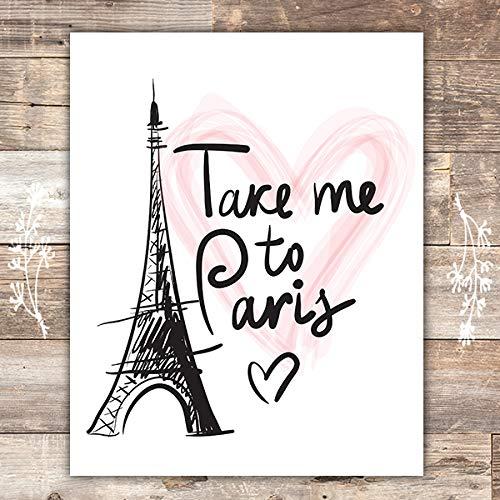 Paris Wall Art Print - Unframed - 8x10 | Eiffel Tower Decor -