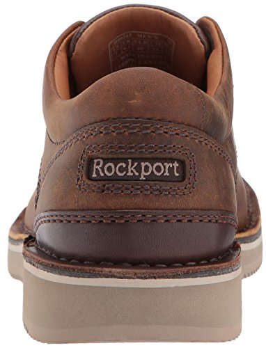 Mens Rockport Prestige Punta Tinta Unita In Pelle Di Cera Dapi