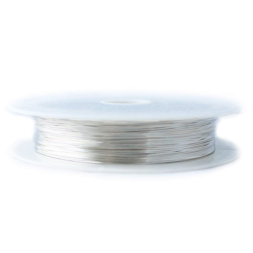 1 Ounce (50 Ft) 925 Sterling Silver Wire 22 Gauge, Half Round, Dead Soft - from Craft Wire by Craft Wire