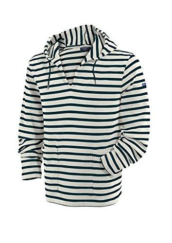 Saint James COMETE - Streifen Puli mit Kapuze - Bretagne-Shirts ECRU / MARINE